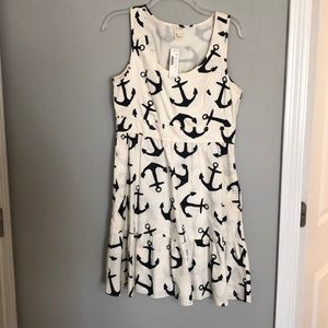 J crew anchor dress NWT
